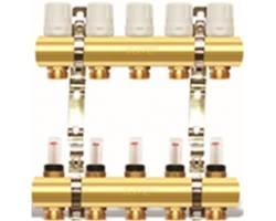 Коллекторный блок с расходомерами и креплениями APC2