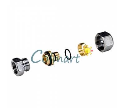 """Прямой фитинг с внутренней резьбой (для многослойной и полимерной трубы) Giacomini R187FX096 3/4""""x(20x2)"""