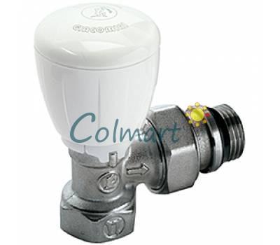 "Угловой микрометрический термостатический клапан Giacomini R421X133 1/2"""
