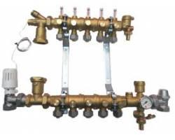 """Коллектор для водяного теплого пола Giacomini R53Y002 1/2""""x1""""x3/4E (2 контура)"""