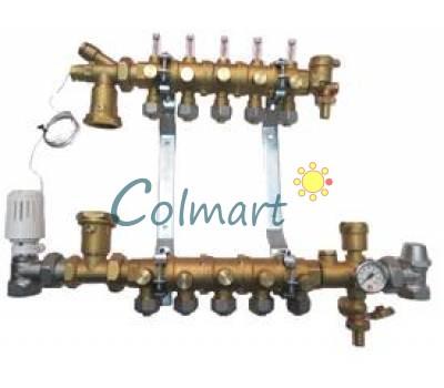 "Модульный коллектор для систем теплого пола Giacomini R53Y006 1/2""x1""x3/4E (6 контуров)"