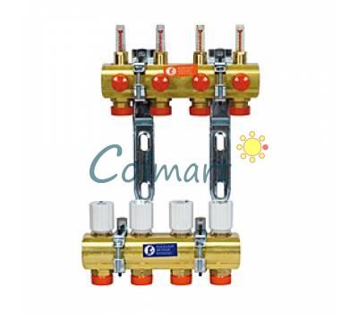 """Сборный коллекторный узел с расходомерами Giacomini R553FY042 1""""x3/4""""E/2"""
