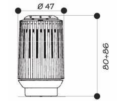 Жидкостная термостатическая головка Giacomini R456X101 CLIP-CLAP