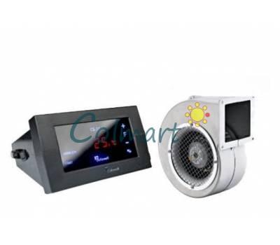 Комплект автоматики для твердотопливных котлов KG Elektronik блок с сенсорным управлением CS-19 и вентилятор DP-120