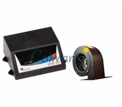 Комплект автоматики для твердотопливных котлов KG Elektronik SP-05 LED и вентилятор NWS-75