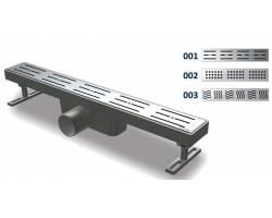 Душевой канал с решеткой из нержавеющей стали NOVA 5100 (65 мм х 200 мм)
