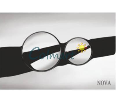 Кнопка хромированная круглая, для инсталляции сантехнической NOVA plastik 7312