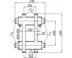 Коллектор Termojet К22ВН.150(300)