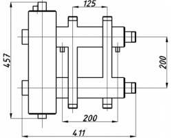 Коллектор с гидрострелкой Termojet СК-182.125 (2+1, в теплоизоляции)