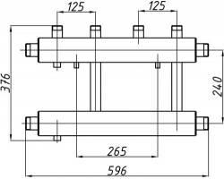 Коллектор Termojet К22В.125(240)