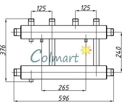 Коллектор Termojet СК-252.125 (выход вверх, 2+1)