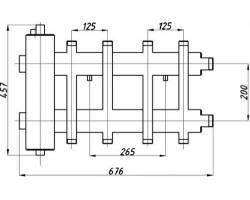 Коллектор с гидрострелкой Termojet СК-282.125 (4+1, в теплоизоляции)