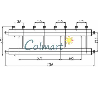 Коллектор Termojet СК-452.125 (выход вверх, 4+1)