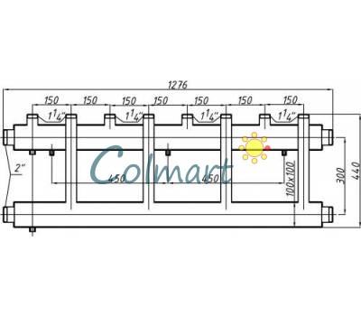 Коллектор Termojet СК-453.150 (выход вверх, 4+1)