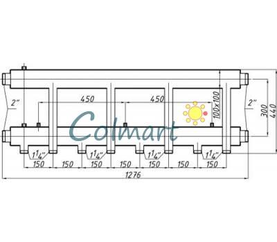 Коллектор Termojet СК-463.150 (выход вниз, 4+1)
