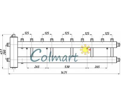 Коллектор с гидрострелкой Termojet СК-522.125 (5+1, в теплоизоляции)