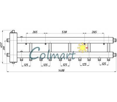 Коллектор с гидрострелкой Termojet СК-532.125 (5+1, в теплоизоляции)