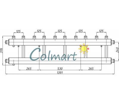Коллектор Termojet СК-552.125 (выход вверх, 5+1)
