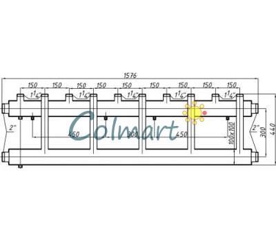 Коллектор Termojet СК-553.150 (выход вверх, 5+1)