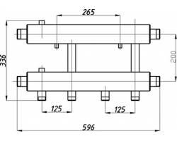 Коллектор Termojet К22Н.125(200)