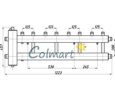Коллектор с гидрострелкой Termojet СК-422.125 (4+1, в теплоизоляции)