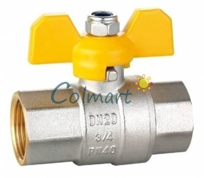 """Кран шаровой для газа HLV 104227 3/4"""" ВВ"""