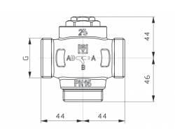 "Трехходовой клапан HERZ Teplomix (1776603) DN25 1*1/4"" 61°C"