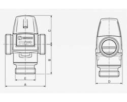"""Термостатический смесительный клапан ESBE VTA 322 G1"""" 35-60°С"""