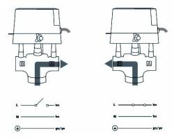 """Трехходовой зональный клапан с электроприводом ESBE ZRS234 DN 20 3/4 """" kvs 4.6"""