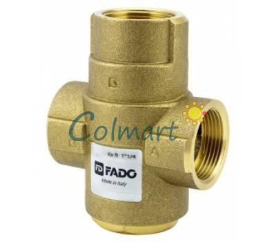 """Трехходовой антикондесационный клапан для твердотопливного котла FADO AKP02 1*1/4"""" 55°С Kv 9"""