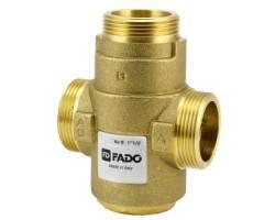 """Трехходовой антикондесационный клапан для твердотопливного котла FADO AKP03 1*1/2"""" 55°С Kv 9"""