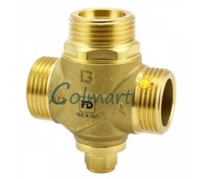 """Трехходовой антикондесационный клапан для твердотопливного котла FADO AKP01 1"""" 55°С Kv 3.2"""