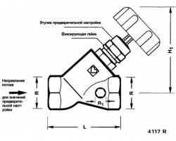"Балансировочный вентиль HERZ STROMAX-R 4117 R 1"" DN 25 (1411763)"