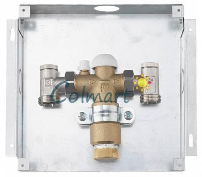 HERZ-FLOORFIX (1810010) комплект регулирующий для напольного отопления, для скрытого монтажа, крышка белого цвета