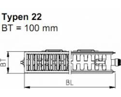 Стальной панельный радиатор KERMI FKO 22 300*400