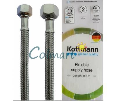 """Шланг в нержавеющей оплетке для воды Kottmann 3/8"""" x 1/2"""" 50 см"""