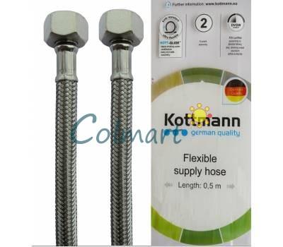 Шланг в нержавеющей оплетке для воды Kottmann 1/2  150 см