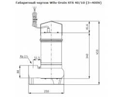 Насос дренажный Wilo-Drain STS 40/10 3-400-50-2-10M