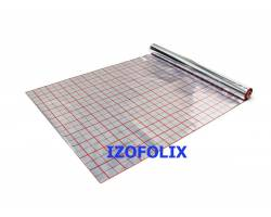 Фольга для теплого пола IZOFOLIX  (фольгированная пленка) с разметкой рулон 50 м.кв.