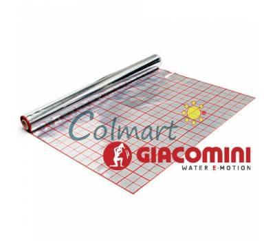 Фольга для теплого пола Giacomini (фольгированная пленка) с разметкой рулон 50 м.кв.