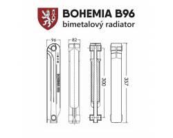 Биметаллический радиатор BOHEMIA B96/300